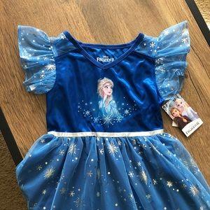 Disney Frozen Princess Elsa Dress Small NWT